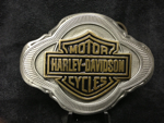 HARLEY DAVIDSON PEWTER BAR & SHIELD BUCKLE