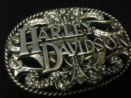 Harley Davision Bedazzled Buckle