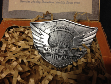 Harley Davision Wing pewter Buckle