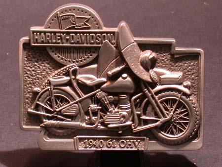 Harley-davidson 1940 61OHV Pewter buckle
