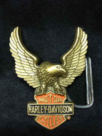 Harley-Davidson 1993 Baron Brass Eagle Buckle
