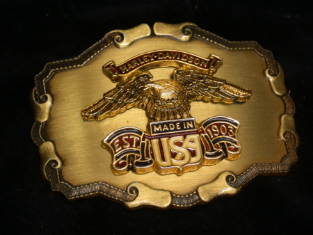 Harley Davidson USA Raintree Buckle