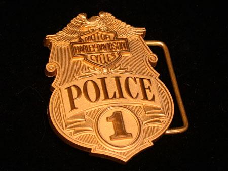 Harley Jostens  Brass Police Buckle LE