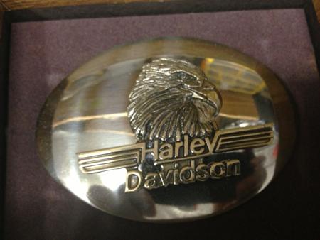 Harley Davidson 1982 Eagle Mirror Buckle NIB