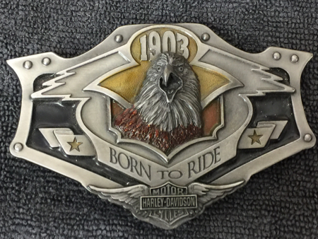 Harley Davidson Pewter Eagle Buckle
