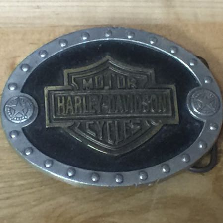 Harley Davidson Bar and Shield Buckle