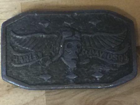 Vintage Harley Davidson Skull Buckle