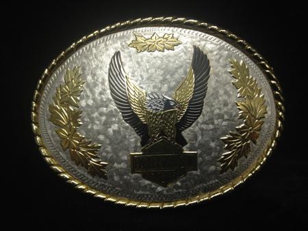Vintage Harley Davidson Gold Buckle