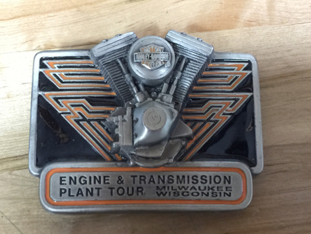 HD TRANSMISSION PLANT TOUR BELT BUCKLE