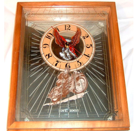 Harley Davidson  Mirrored Wall clock 1983