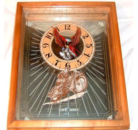 Harley Davidson  Mirrored Wall clock 1983