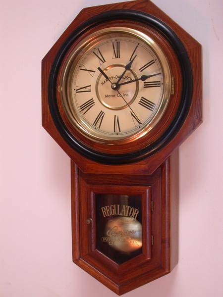 Vinatge Harley Davidson Pendulum Clock 1986
