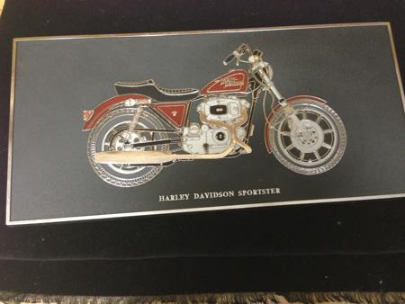 Harley Davidson Dealer Plastic Plaque
