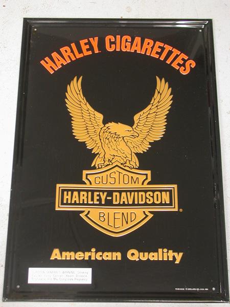 Harley Davidson Vintage Cigarette Sign (NEW)
