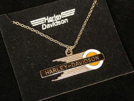 Vintage Harley Davidson Tank Logo Necklace