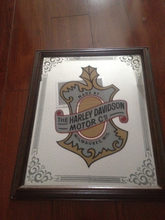 Vintage Harley Davidson Acorn Mirror