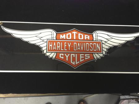 Harley Davidson wing Enamel Sign