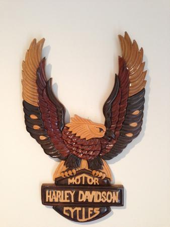 Harley Davidson Wood Logo/Emblem Art