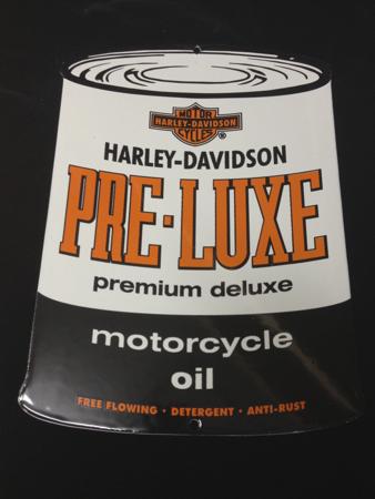 Harley Davidson Enamel Pre-Lux Sign