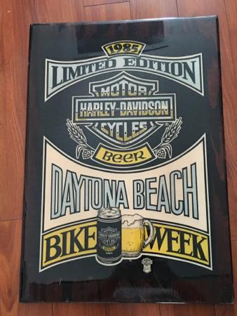 Harley Davidson 1985 Daytona Dealer sign
