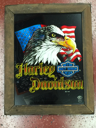 Harley Davidson 80\'s Glass Picture