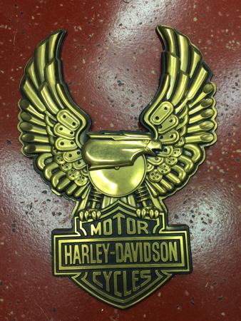 Vintage Harley Davidson Gold Eagle