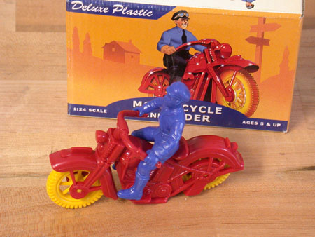 Deluxe Plastic Solo motorcycle and Rider