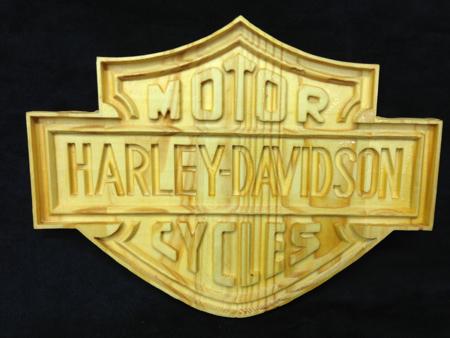 Harley Davidson Carved Sign