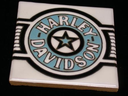Harley Davidson Fatboy Ceramic Tile #2