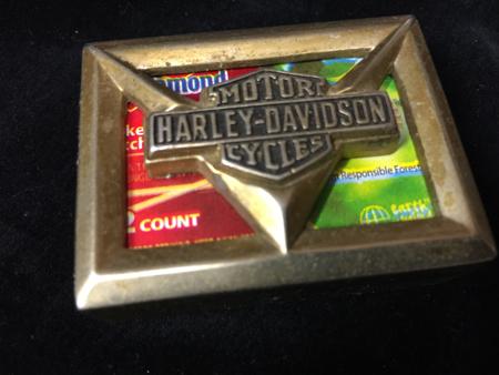 Harley Davidson Match Holder
