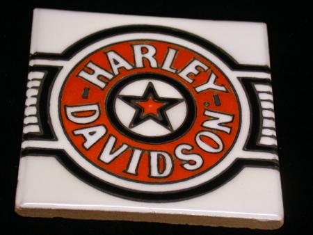 Harley Davidson Fatboy Ceramic Tile #3