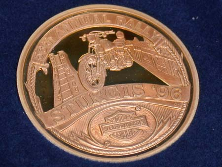 96 Sturgis .999 Fine silver Medal