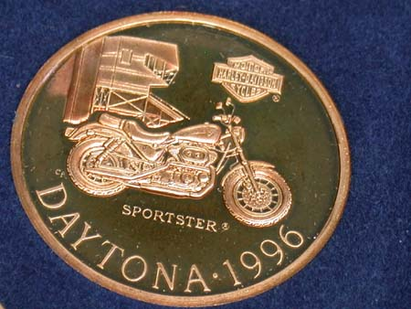 Daytona 96  Commomorative .999 Medal