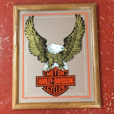 Harley Davidson 1982 Vintage Eagle Mirror