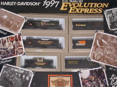 H.O. 1997 Evolution Express Harley Train Set