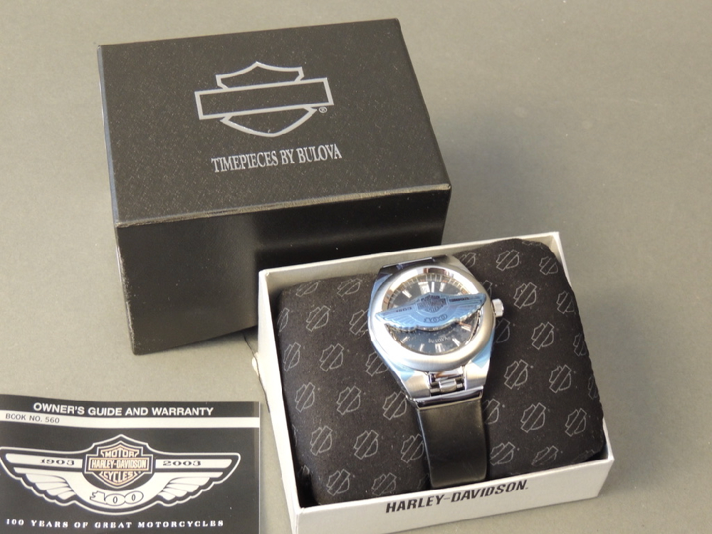 100th Anniversary Harley Davidson Flip Watch