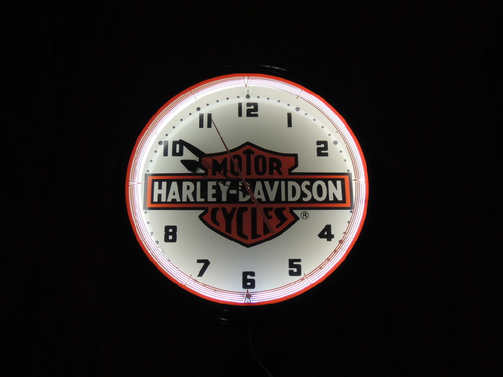 Harley Davidson 1991 Neon Clock