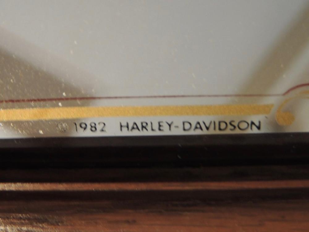 Vintage 1982  Harley Davidson Mirror