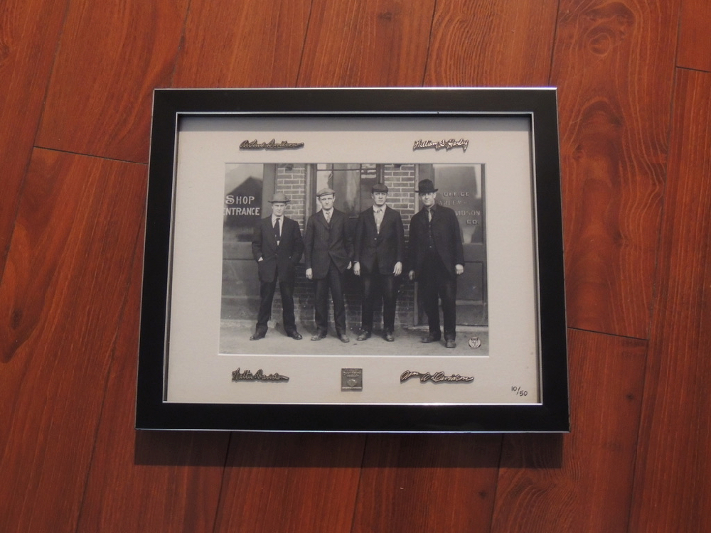 Harley Davidson 2010 Custom Framed Archival reproduction Photograph limited to 50 Sets