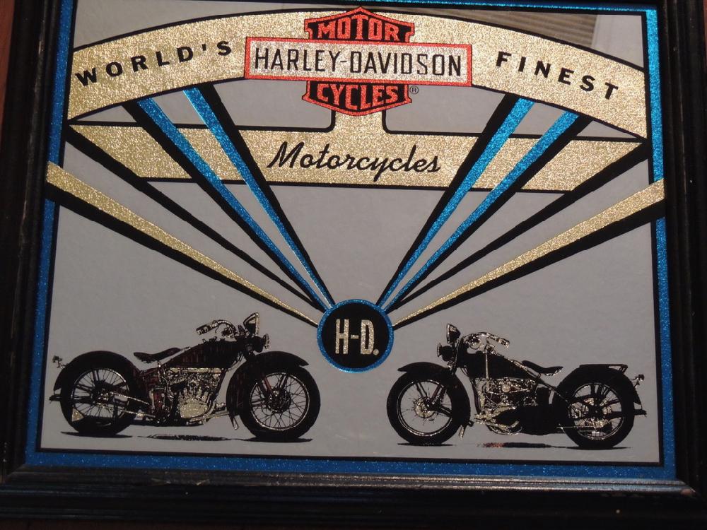 Vintage Harley Davidson Mirror