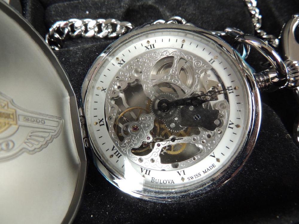 100th Anniversary Harley-Davidson pocket watch  NWT #1721