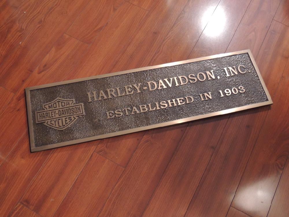 Harley Davidson Dealer Store Bronze Plaque