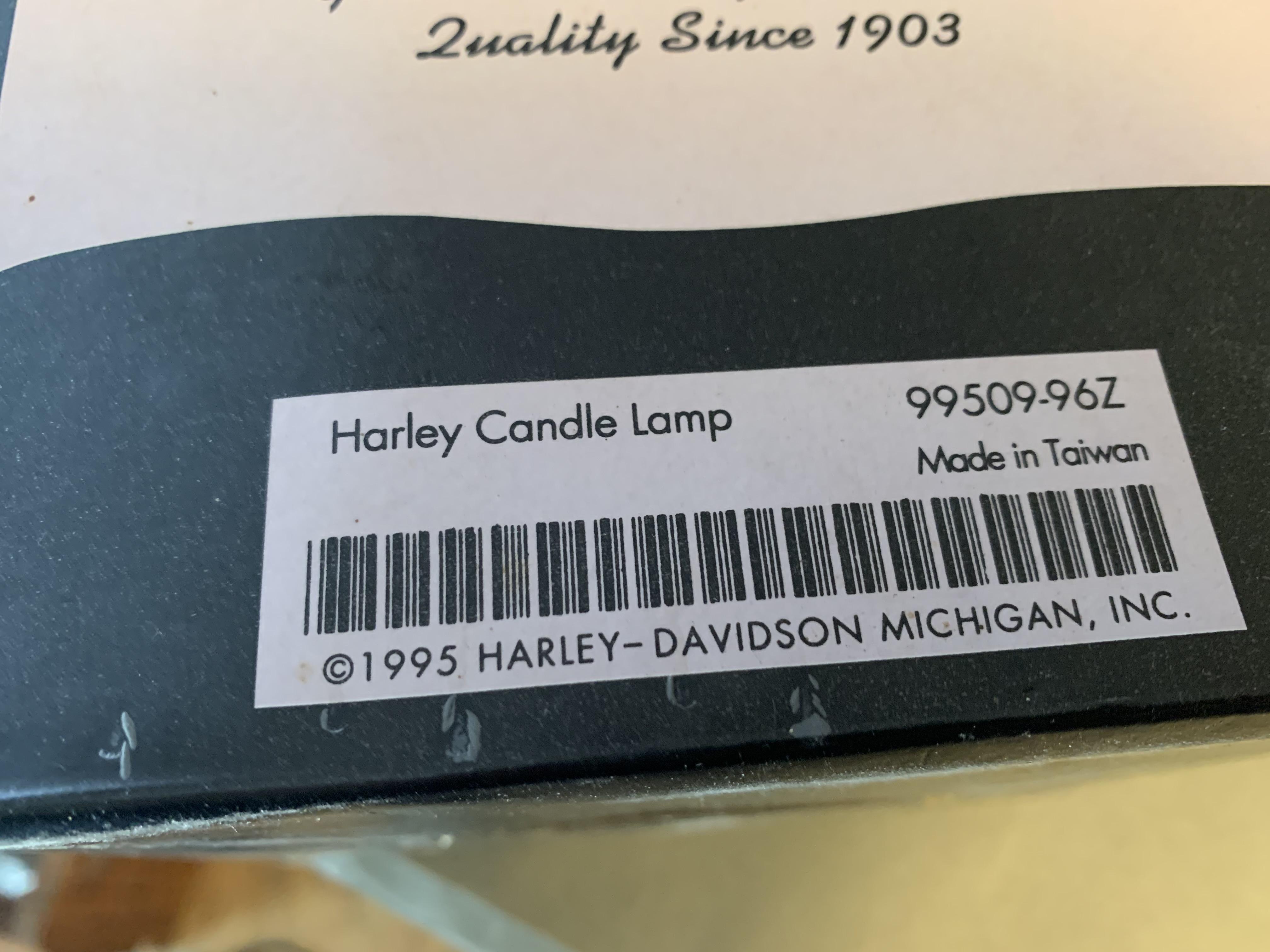 Harley Davidson Candle Lamp
