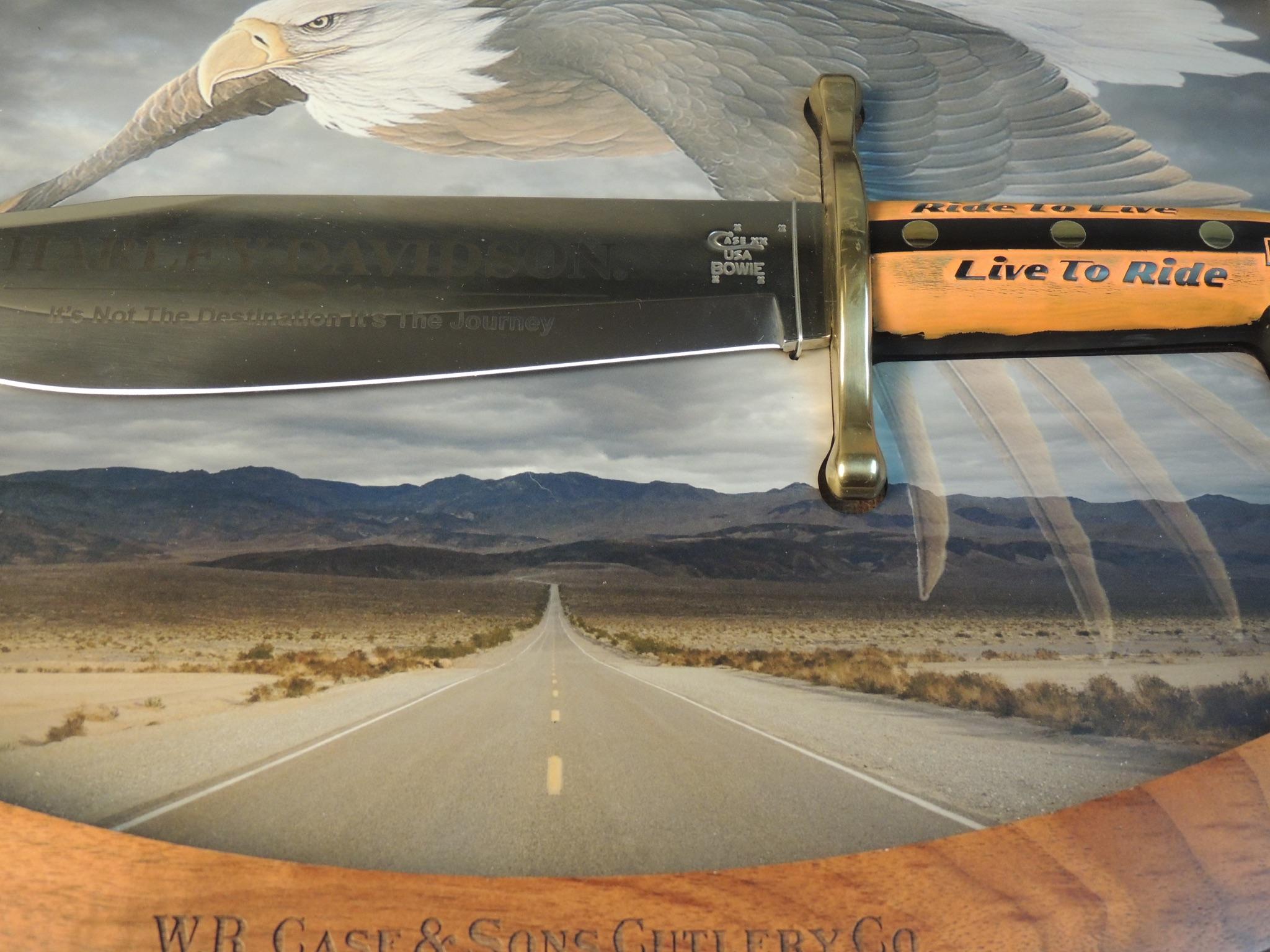 Harley-Davidson case Bowie knife
