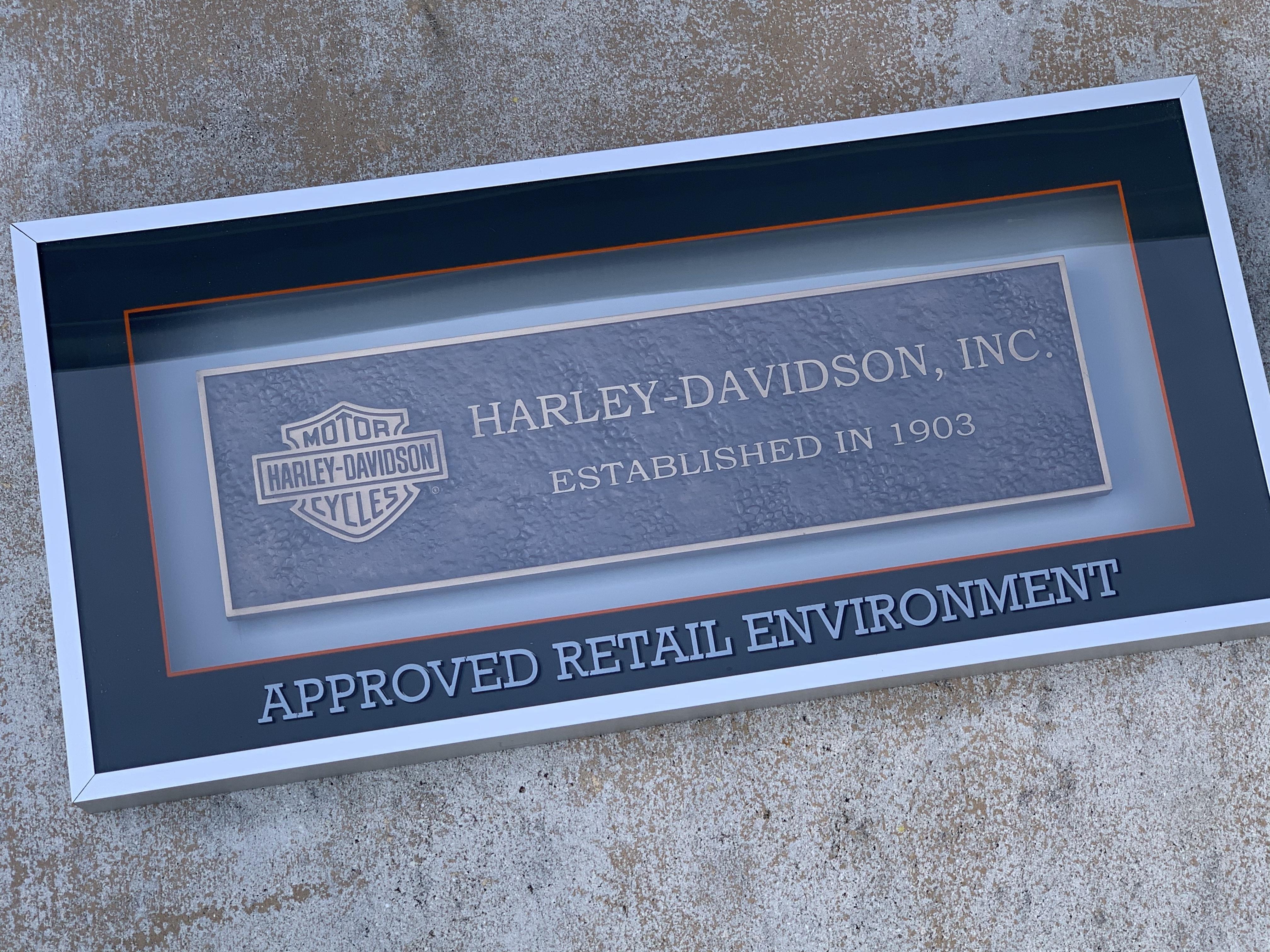 Harley-Davidson Dealer Bonze plaque