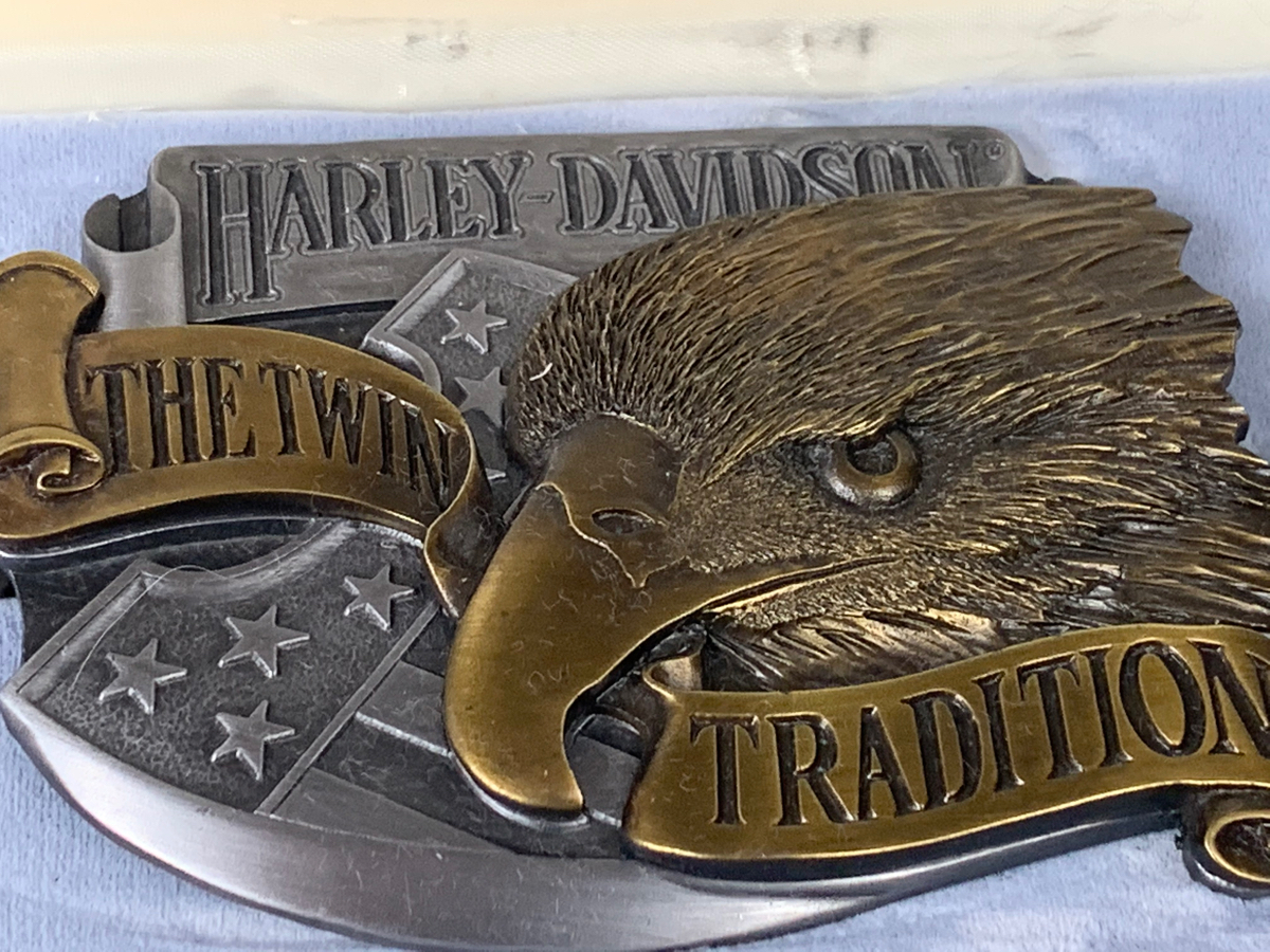 Harley Davidson The Twin Tradition Large Buckle