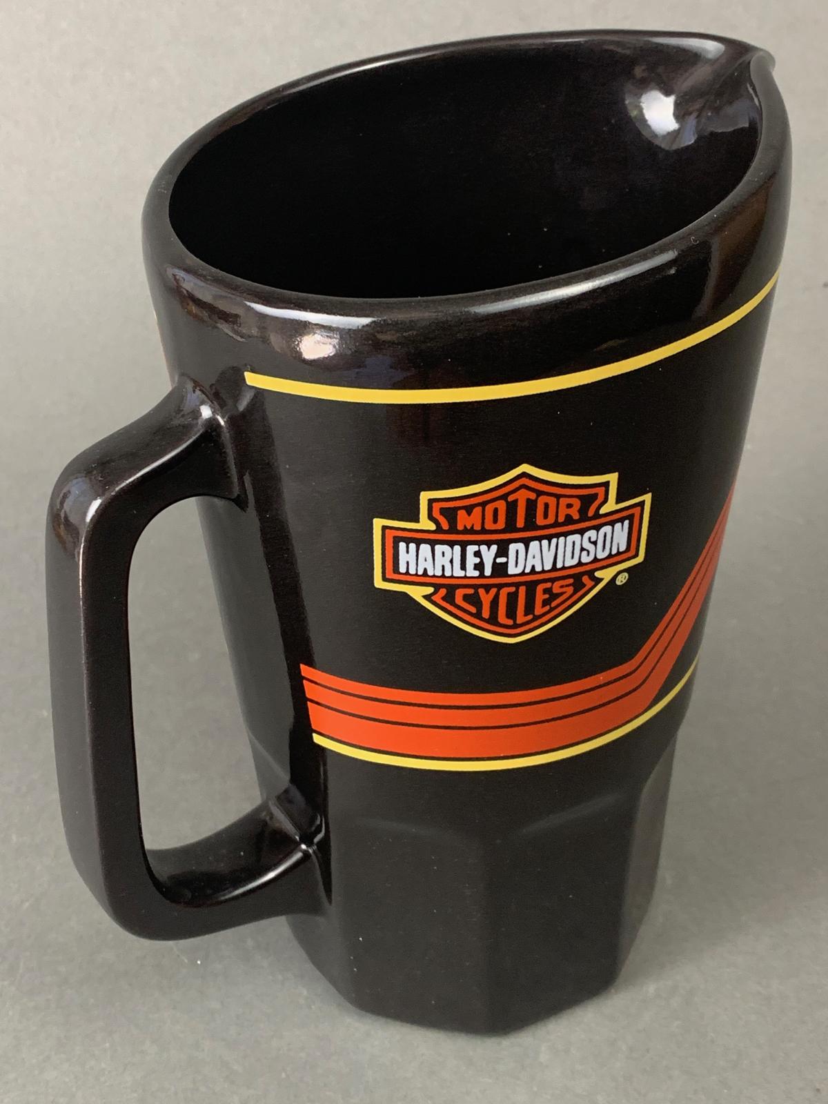 Harley Davidson Vintage Ceramic Pitcher