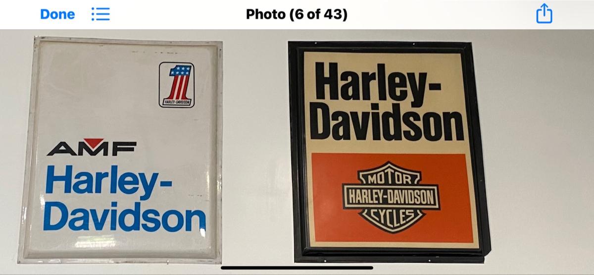 "Harley-Davidson Dealership Plexiglass Sign 60\"" X 73\"" $1795 for either one"