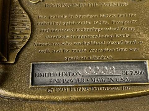 Harley Davidson 1920  Decade Buckle  #4, 8, 10