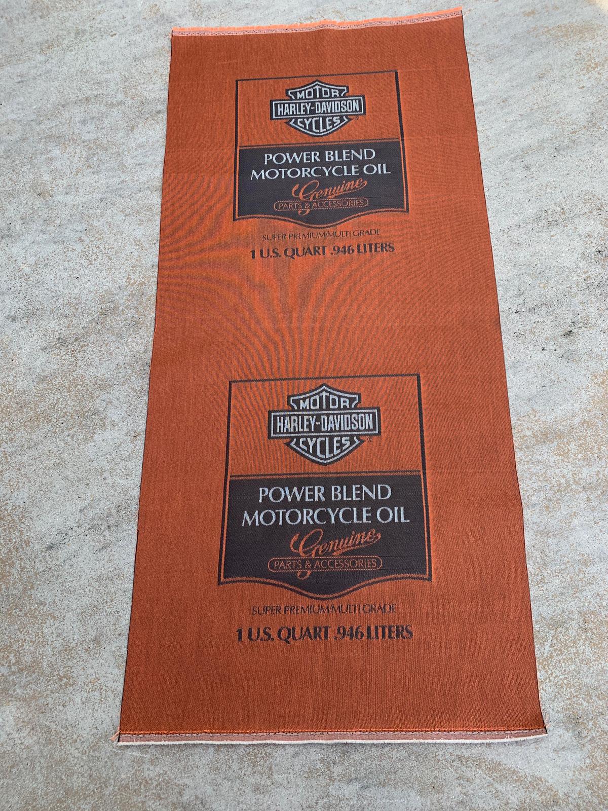 Vintage Harley Davidson Dealer Power Blend Oil Banner